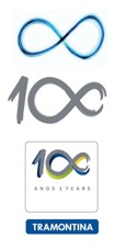 <strong>Infinity – the symbol of the 100th year celebrated in 2011</strong> <br>     The number 100 present in the 100 year stamp was developed by ZON Design to signal Tramontina's centennial and reveals the dynamic and trailblazing spirit of the company, announcing its presence in years to come with the infinity symbol stylized in the two zeros.