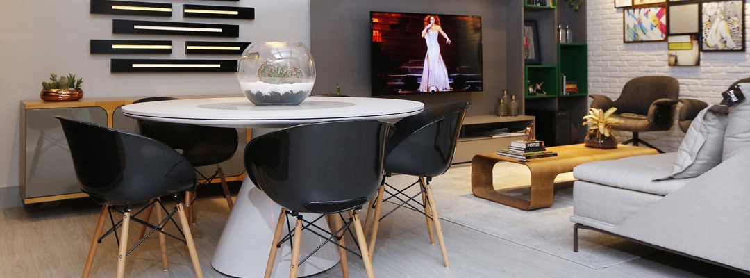 Tramontina tip: integrated dining and living room decoration